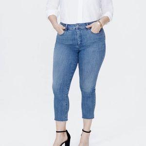 NYDJ Sheri Slim Ankle Frayed Hem Jeans